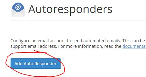 How to schedule an email autoresponder with cPanel