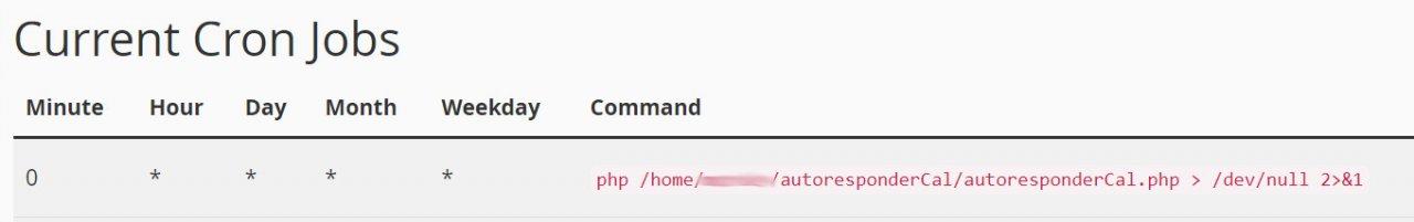 Control cPanel email autoresponder with a Google Calendar